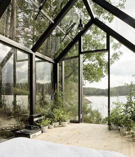 Cabane high-tech tout en verre - ▷ Le guide CABANES & ABRIS DE ...