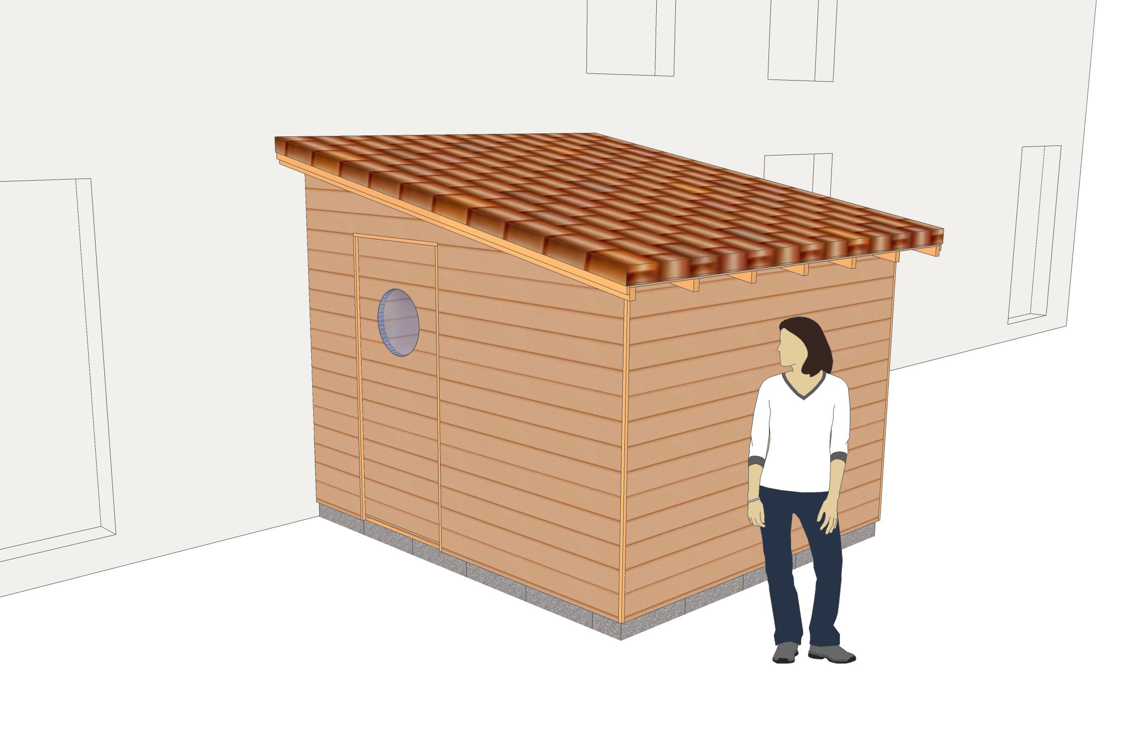 n 1 un abri mono pente adosser contre un mur cabanes abris de jardin et extensions. Black Bedroom Furniture Sets. Home Design Ideas