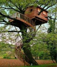 cabane avec escalier tournant. Black Bedroom Furniture Sets. Home Design Ideas